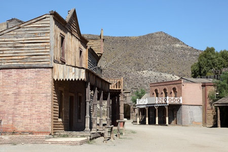 wild west: Old abandoned american western town