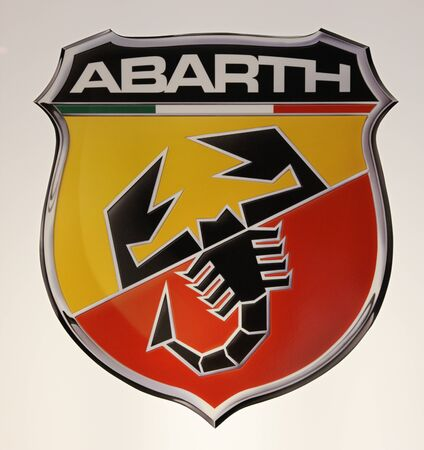 ESSEN - NOV 29: Fiat Abarth Logo shown at the Essen Motor Show in Essen, Germany, on November 29, 2011