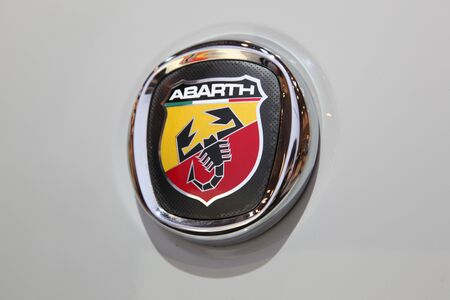 ESSEN - NOV 29: Fiat Abarth Logo shown at the Essen Motor Show in Essen, Germany, on November 29, 2011