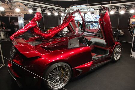 ESSEN, GERMANY - NOV 29: Lamborghini LP 640 E-Gear shown at the Essen Motor Show in Essen, Germany, on November 29, 2011