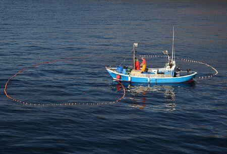 Fishermen in a boat, Lanzarote Spain. Photo taken at 16th December 2011