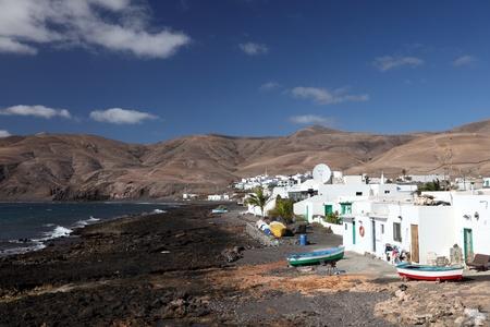 lanzarote: Fishing village Playa Quemada on Canary Island Lanzarote, Spain