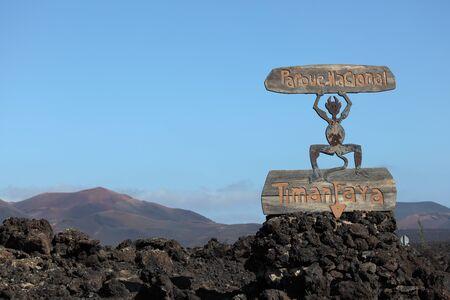 timanfaya: Parque National de Timanfaya on Canary Island Lanzarote, Spain