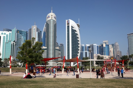 Playground in Doha downtown district Al Dafna, Qatar. Photo taken at 6th of January 2012 Stock Photo - 12060768