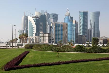 Doha new downtown district West Bay, Qatar Stock Photo