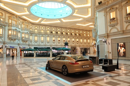 Inside of the Villaggio Mall Shopping Center in Doha, Qatar. Photo taken at 7th of January 2012