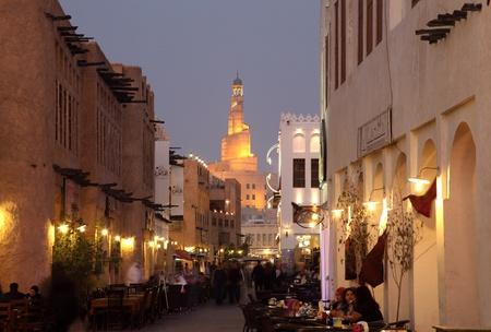souq: Souq Waqif at dusk, Doha Qatar. Photo taken at 7th of January 2012 Editorial