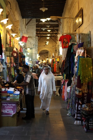 souq: Old market Souq Waqif in Doha, Qatar, Middle East. Photo taken at 7th of January 2012 Editorial