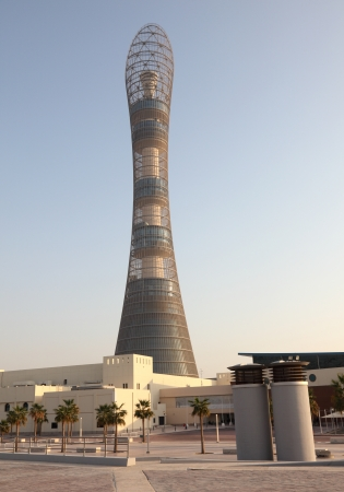 The Aspire Tower in Doha Sports City Complex, Qatar. Photo taken at 7th of January 2012