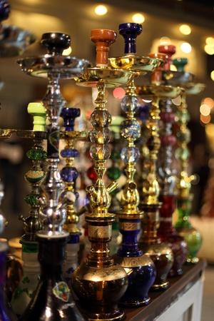 Hookah for sale in Souq Waqif, Doha Qatar photo