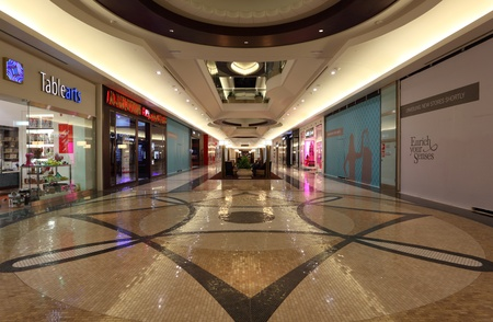 Interior of the Lagoona Mall in Doha, Qatar. Photo taken at 8th of January 2012