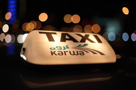 Doha Taxi Service - Karwa. Qatar, Middle East. Photo taken at 9th of January 2012