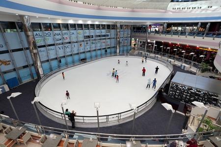 united arab emirate: Skate rink inside of the Marina Mall in Abu Dhabi, United Arab Emirates. Photo taken at 12th of January 2012