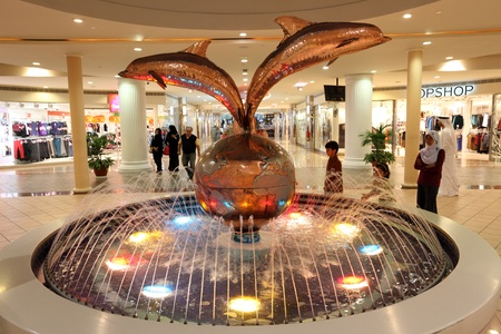 Fountain inside of the Marina Mall in Abu Dhabi, United Arab Emirates. Photo taken at 12th of January 2012
