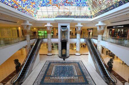 Egyptian style Wafi mall in Dubai, United Arab Emirates. Photo taken at 15th of January 2012