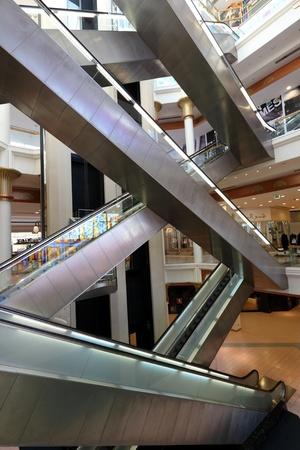 Escalators in the Wafi mall in Dubai, United Arab Emirates. Photo taken at 15th of January 2012