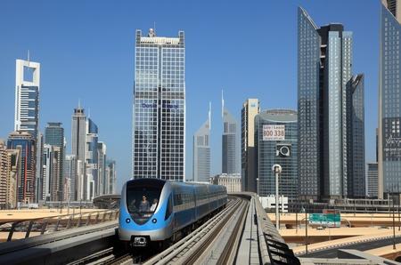 Metro train downtown in Dubai, United Arab Emirates. Photo taken at 15th of January 2012 Stock Photo - 12159883