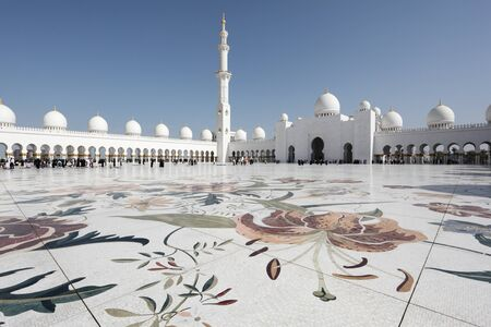 Sheikh Zayed Mosque in Abu Dhabi, United Arab Emirates. Photo taken at 14th of January 2012