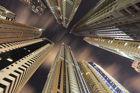 dubai: Skyscrapers downtown in Dubai, United Arab Emirates