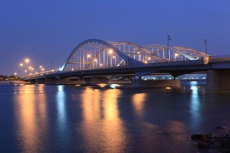 abu dhabi: Al Maqtaa bridge in Abu Dhabi, United Arab Emirates Stock Photo