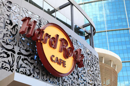 Hard Rock Cafe in Dubai, United Arab Emirates. Photo taken at 17th of January 2012 Stock Photo - 12159896