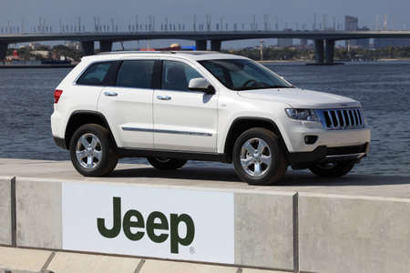 Jeep Grand Cherokee presented in Dubai Festival City. Photo taken at 17th of January 2012