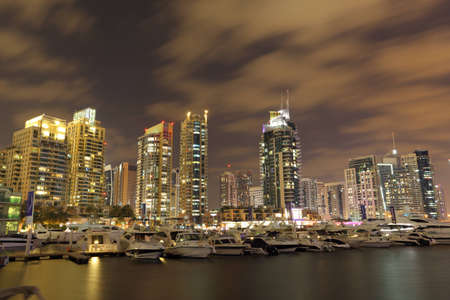 Dubai Marina at night, United Arab Emirates. Photo taken at 17th of January 2012