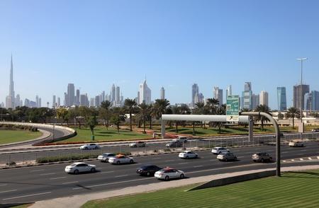 Dubai city highway and skyline, United Arab Emirates Stock Photo - 12713619