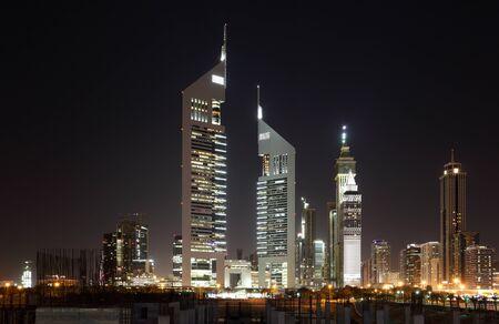 Dubai Dowtown at ngiht, United Arab Emirates