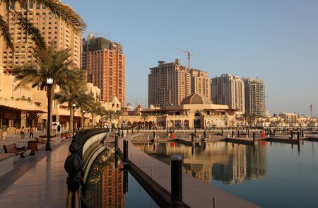 Promenade in The Pearl, Doha Qatar. Photo taken at 8th January 2012