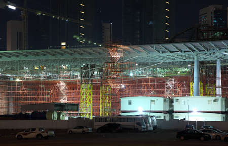 Construction site in Doha downtown, Qatar. Photo taken at 9th January 2012 Stock Photo - 12571435
