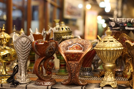Traditional Arabic incense burner in Doha, Qatar