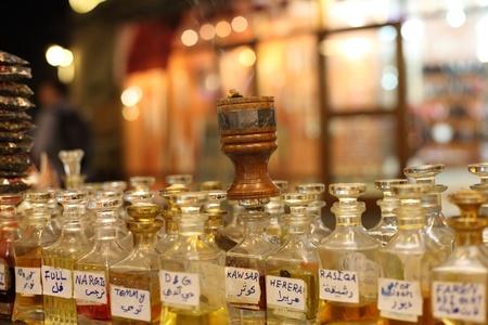 souq: Arabic incense choice at the Souq Waqif in Doha, Qatar Editorial