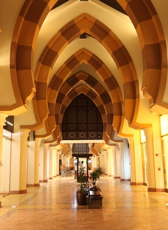Archway at Porto Arabia in Doha, Qatar. Photo taken at 8th of January 2012