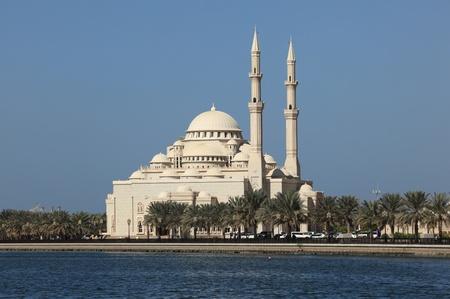sharjah: Mosque in Sharjah City, United Arab Emirates Stock Photo