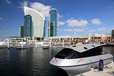 Water Taxi at the Dubai Festival City, United Arab Emirates. Photo taken at 17th of January 2012