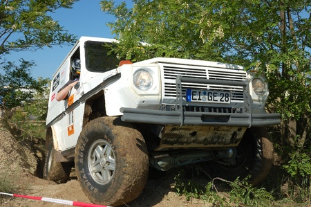 fourwheeldrive: Mercedes Benz 280 GE at offroad rally competition Editorial