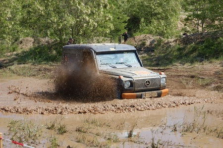 fourwheeldrive: Mercedes Benz G Model at offroad rally competition Editorial