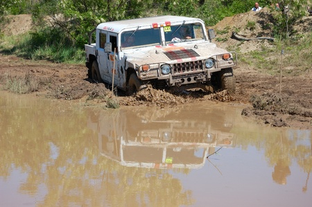 fourwheeldrive: Hummer H1 at offroad rally competition Editorial