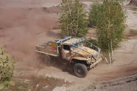 fourwheeldrive: Ural rally truck at offroad competition Editorial