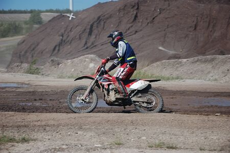 Enduro motocross competition