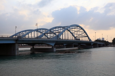 Al Maqtaa bridge in Abu Dhabi, United Arab Emirates