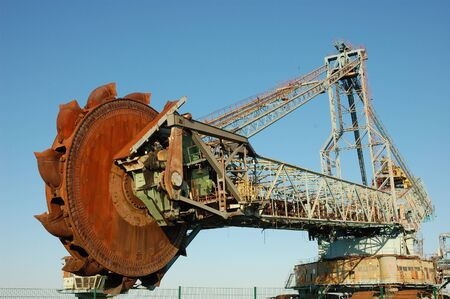 bagger: Abandoned daylight mine excavator for brown coal Editorial