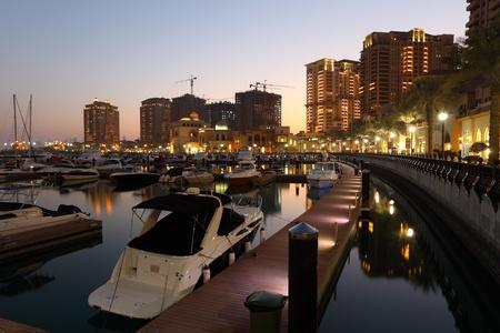 porto: Marina in Porto Arabia, Doha Qatar. Photo taken at 8th January 2012 Editorial