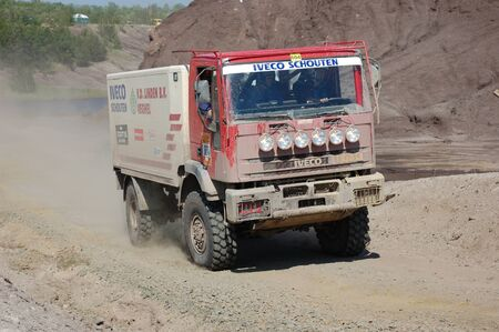fourwheeldrive: IVECO rally truck at offroad competition