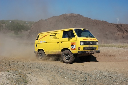fourwheeldrive: Volkswagen van at offroad rally competition Editorial
