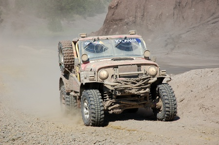 Jeep Wrangler at offroad rally competition