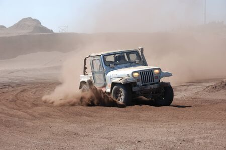 4wd: Jeep Wrangler at offroad rally competition