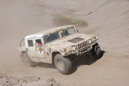 hummer: Hummer H1 at offroad rally competition Editorial