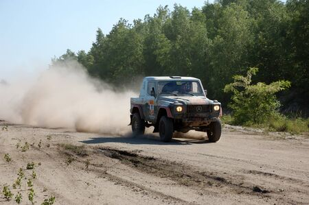 fourwheeldrive: Mercedes Benz G Class SUV at offroad rally competition